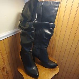 Black Christian Siriano Knee-High Boots